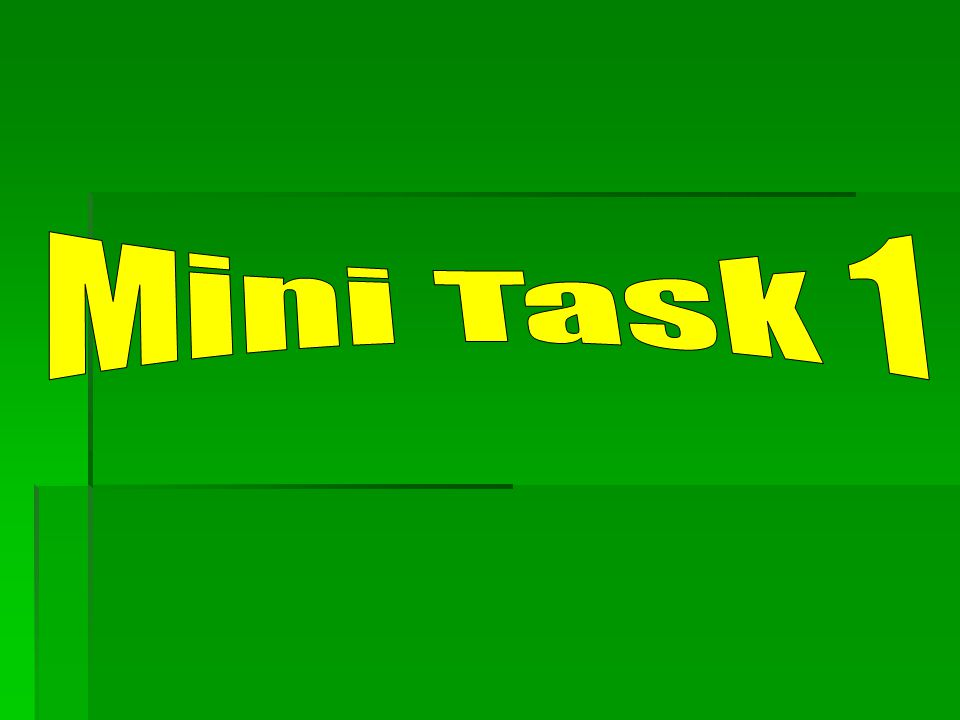 Mini Task 1
