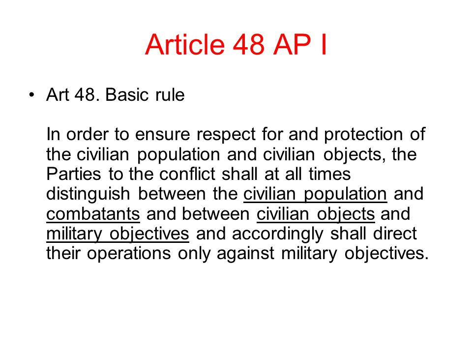 Article 48 AP I