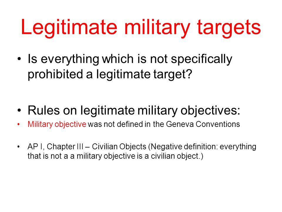 Legitimate military targets