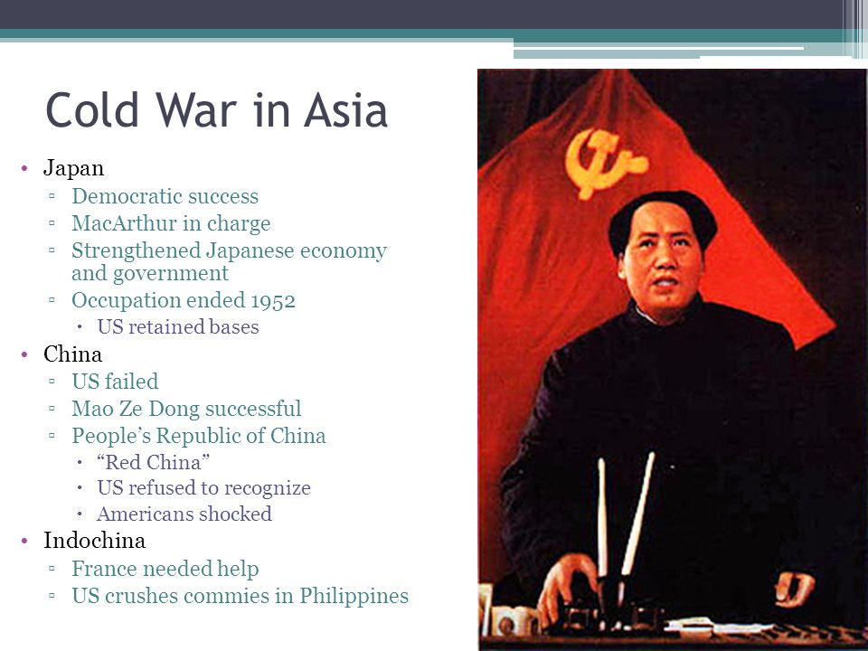 Cold War in Asia Japan China Indochina Democratic success