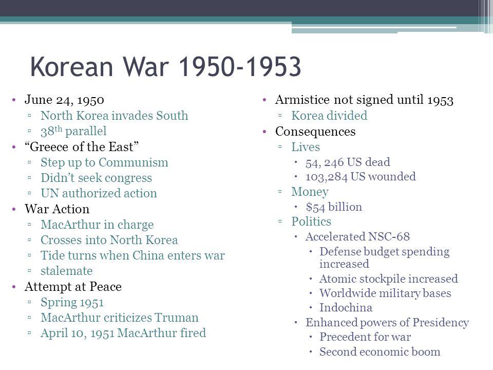 Korean War 1950-1953 June 24, 1950 Greece of the East War Action