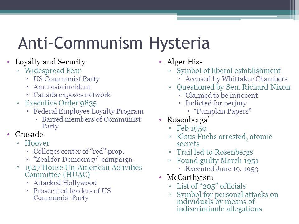 Anti-Communism Hysteria