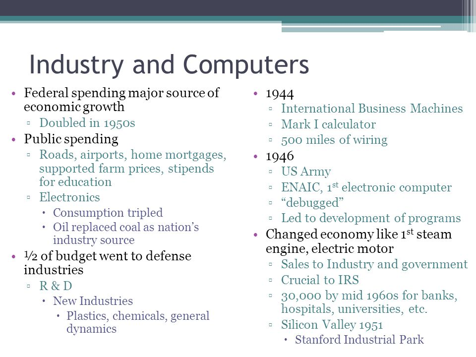 Industry and Computers