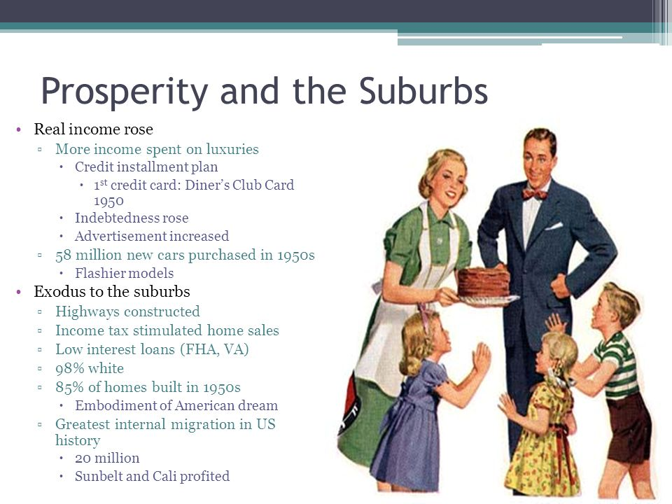 Prosperity and the Suburbs