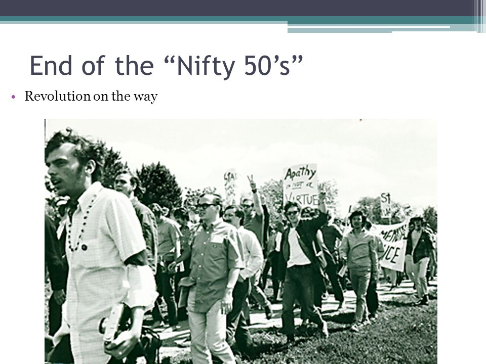 End of the Nifty 50's Revolution on the way