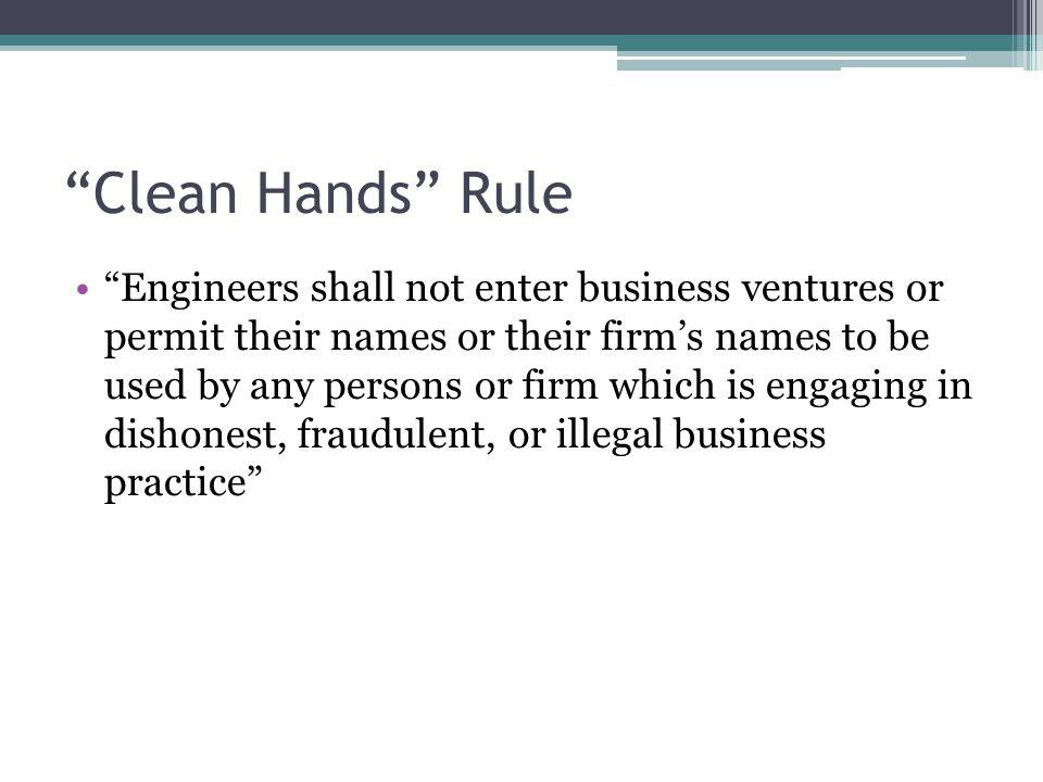 Clean Hands Rule