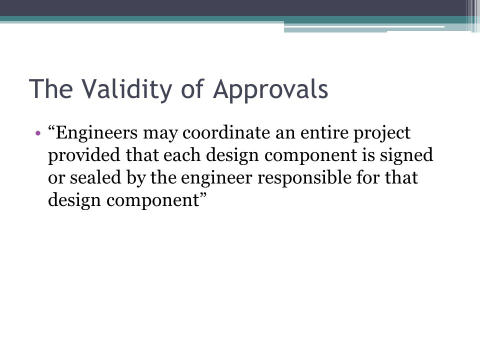 The Validity of Approvals