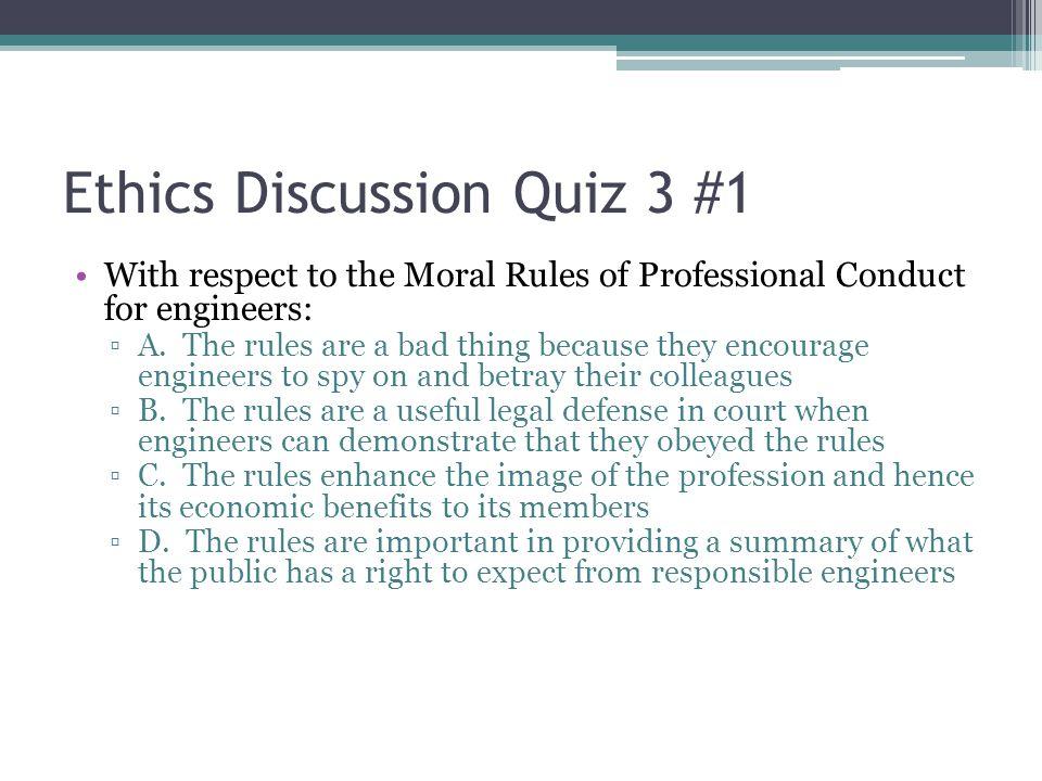 Ethics Discussion Quiz 3 #1