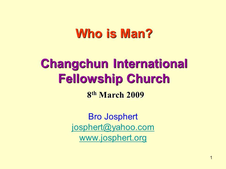 Who is Man Changchun International Fellowship Church 8th March 2009