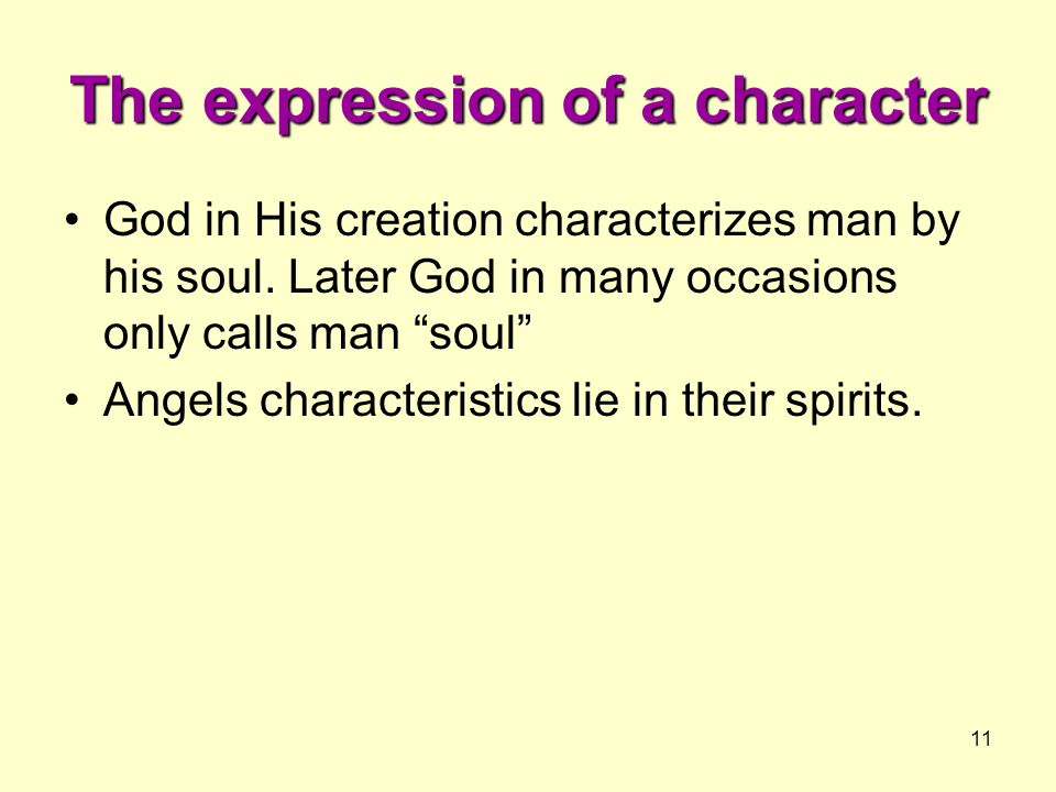 The expression of a character