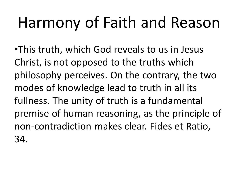 Harmony of Faith and Reason