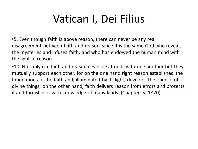 Vatican I, Dei Filius