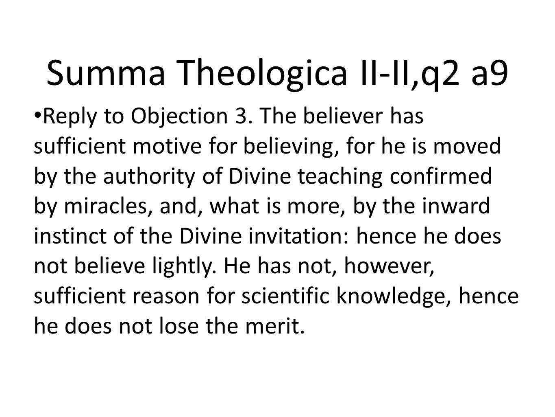 Summa Theologica II-II,q2 a9
