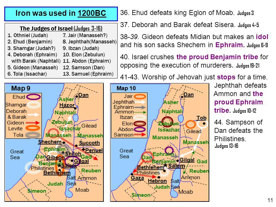 The Judges of Israel (Judges 3-16)