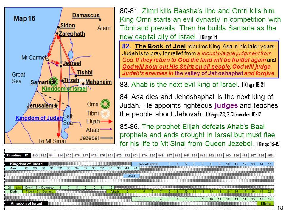 83. Ahab is the next evil king of Israel. 1 Kings 16,21