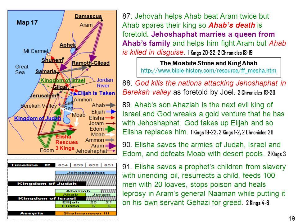 The Moabite Stone and King Ahab