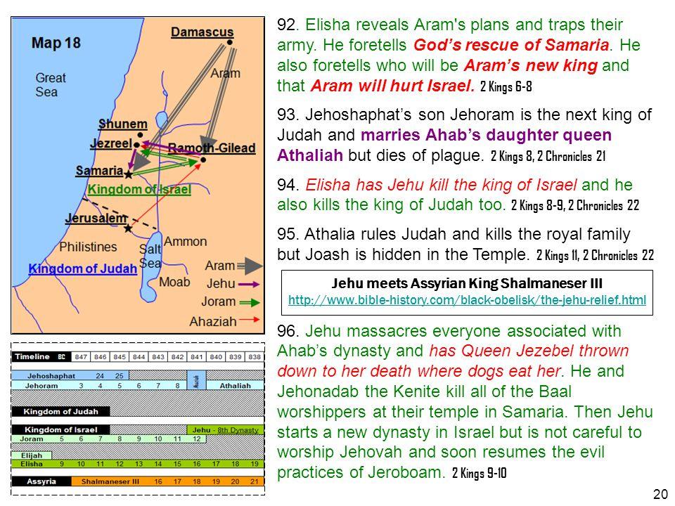 Jehu meets Assyrian King Shalmaneser III