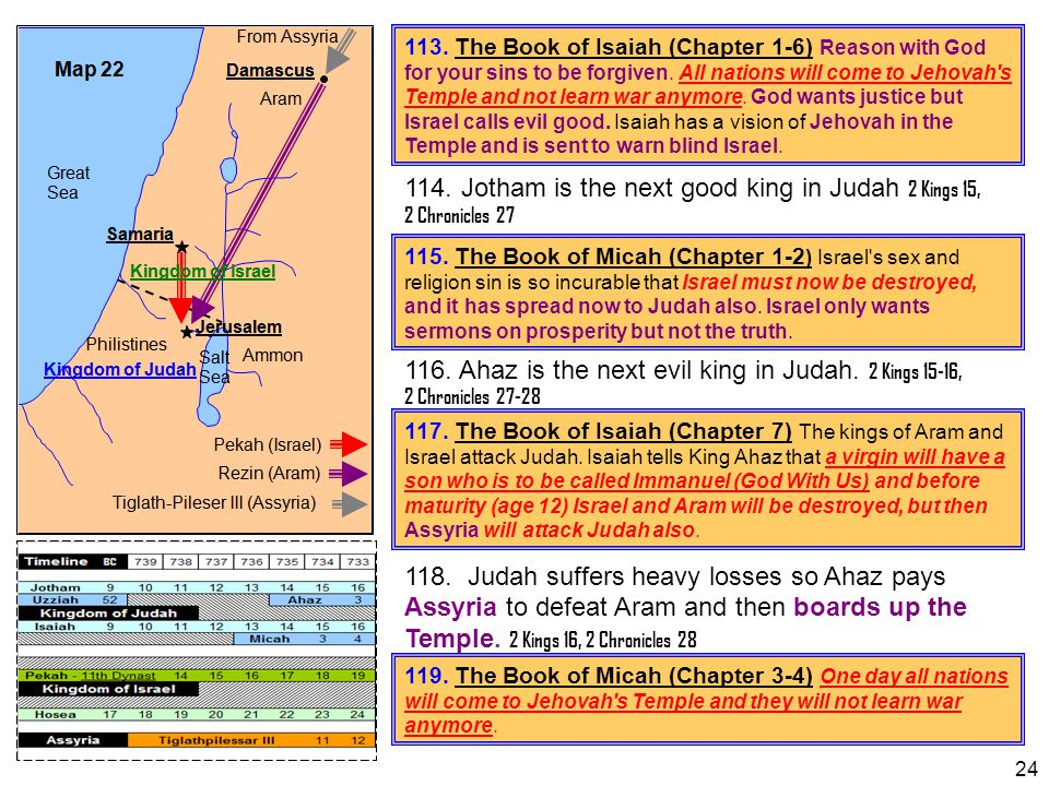 114. Jotham is the next good king in Judah 2 Kings 15, 2 Chronicles 27
