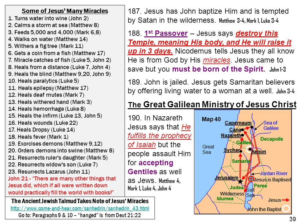 The Great Galilean Ministry of Jesus Christ 190. In Nazareth