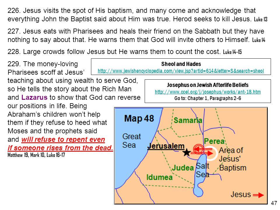 Josephus on Jewish Afterlife Beliefs