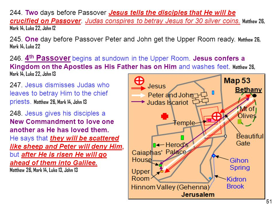 247. Jesus dismisses Judas who leaves to betray Him to the chief
