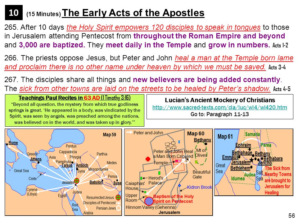 (15 Minutes) The Early Acts of the Apostles 10
