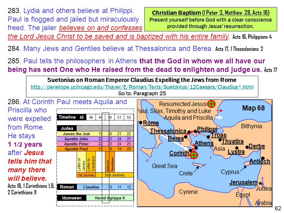 283. Lydia and others believe at Philippi.