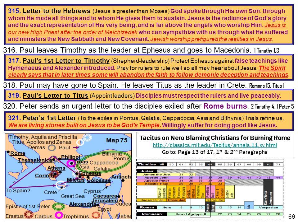 Tacitus on Nero Blaming Christians for Burning Rome