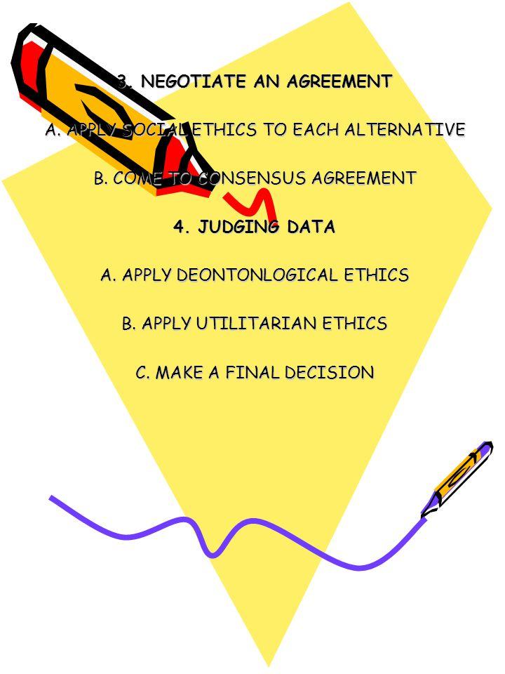 3. NEGOTIATE AN AGREEMENT