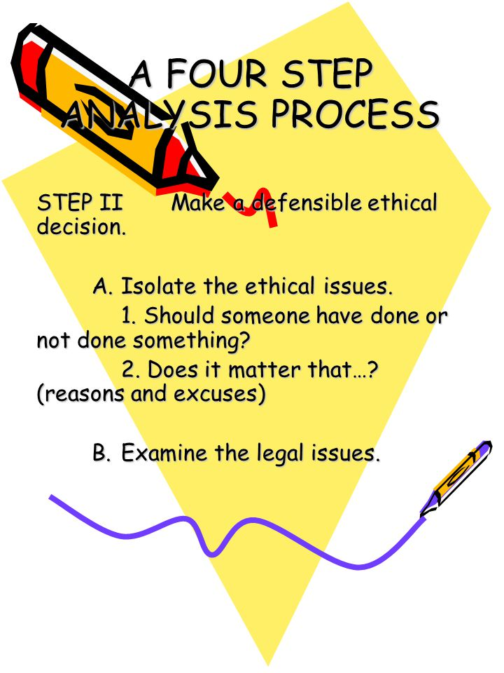 A FOUR STEP ANALYSIS PROCESS