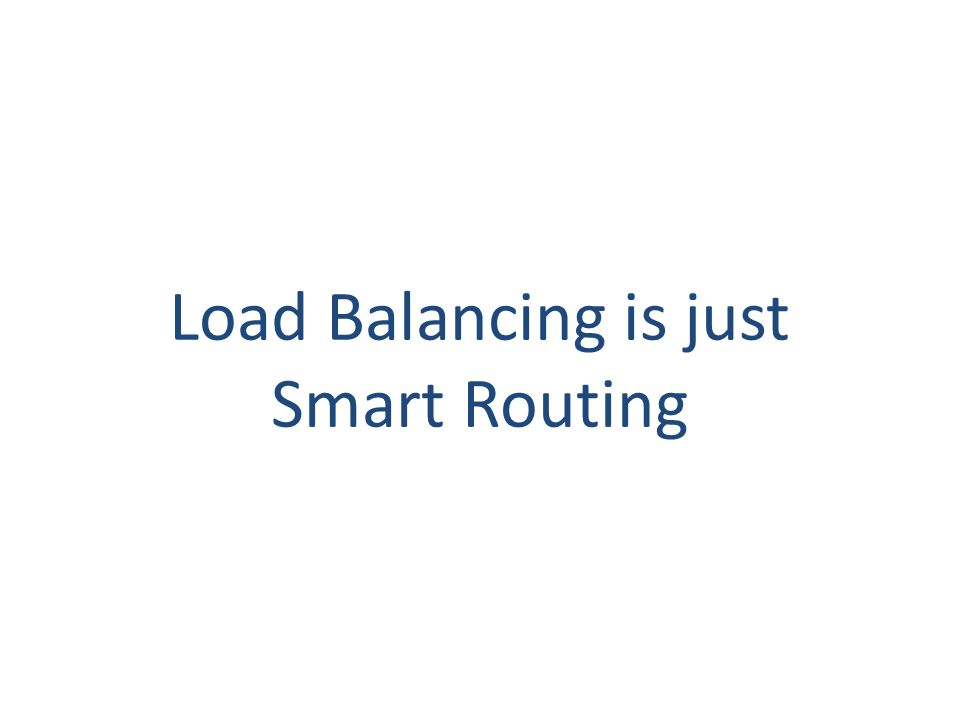 Load Balancing is just Smart Routing 114