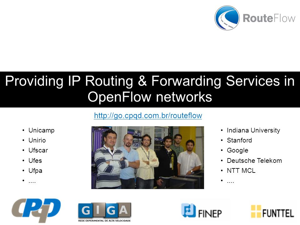 Providing IP Routing & Forwarding Services in OpenFlow networks