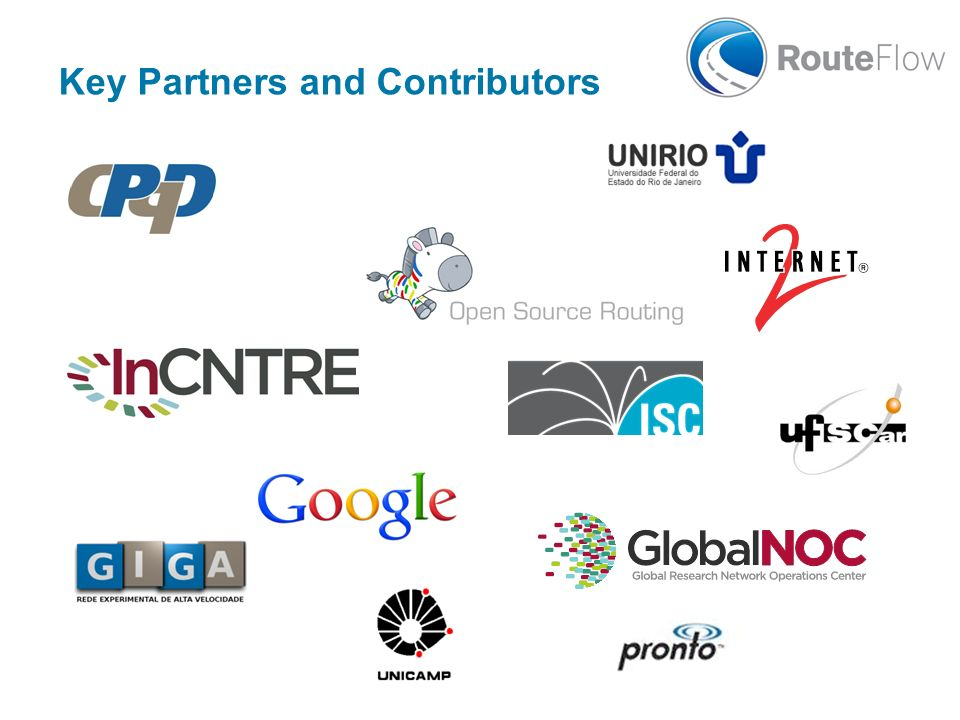Key Partners and Contributors