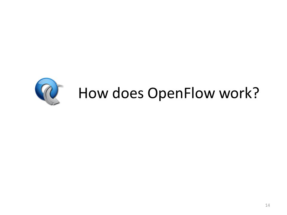 How does OpenFlow work 14