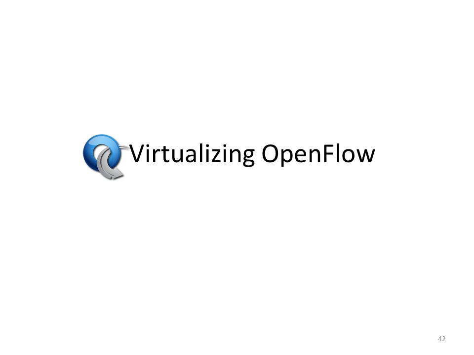 Virtualizing OpenFlow