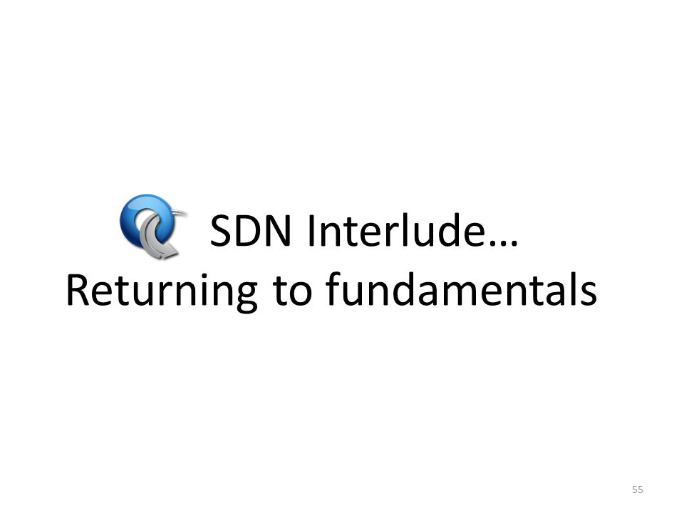 SDN Interlude… Returning to fundamentals