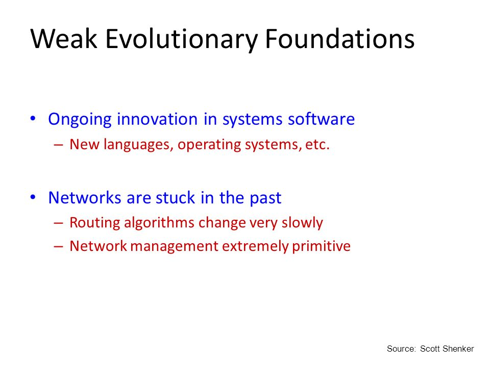 Weak Evolutionary Foundations