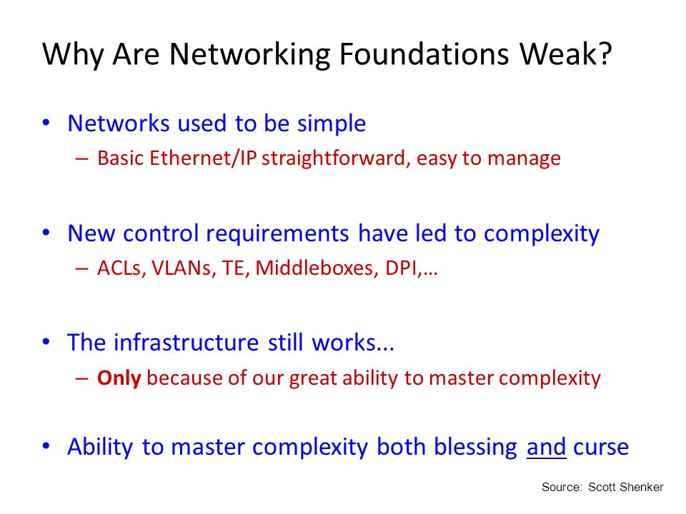 Why Are Networking Foundations Weak