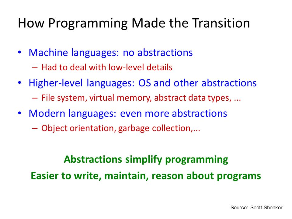 How Programming Made the Transition