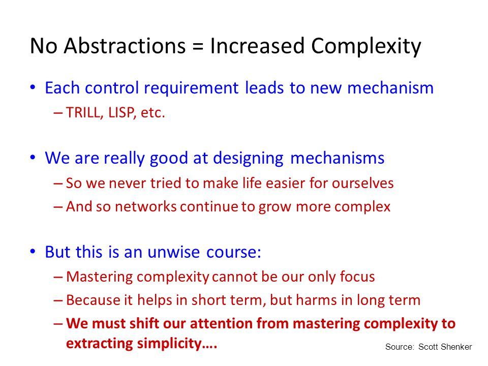 No Abstractions = Increased Complexity