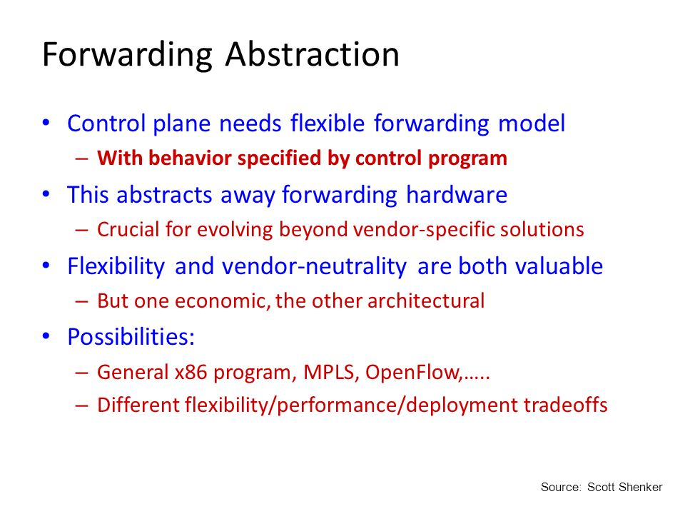 Forwarding Abstraction