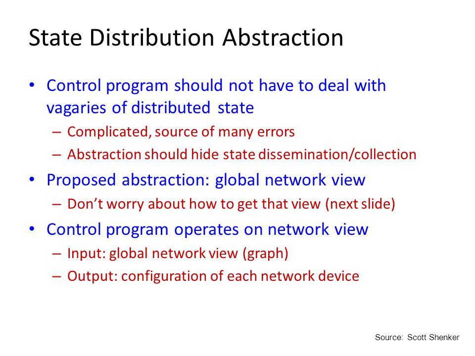 State Distribution Abstraction