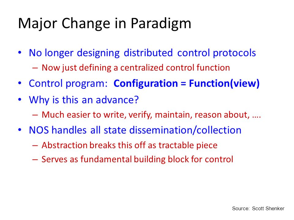 Major Change in Paradigm