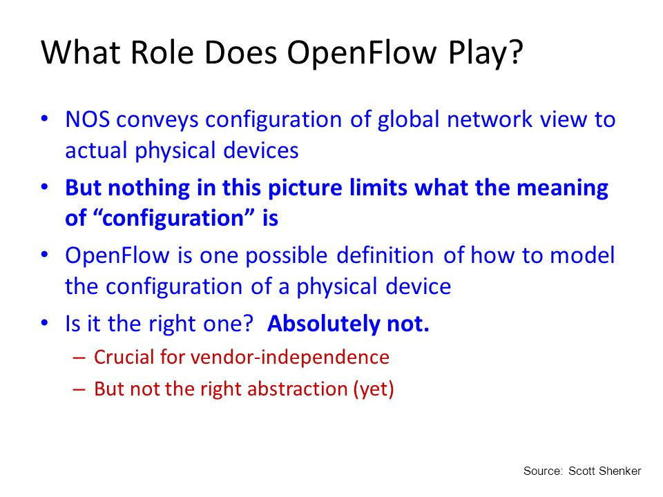 What Role Does OpenFlow Play