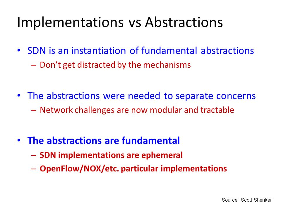 Implementations vs Abstractions