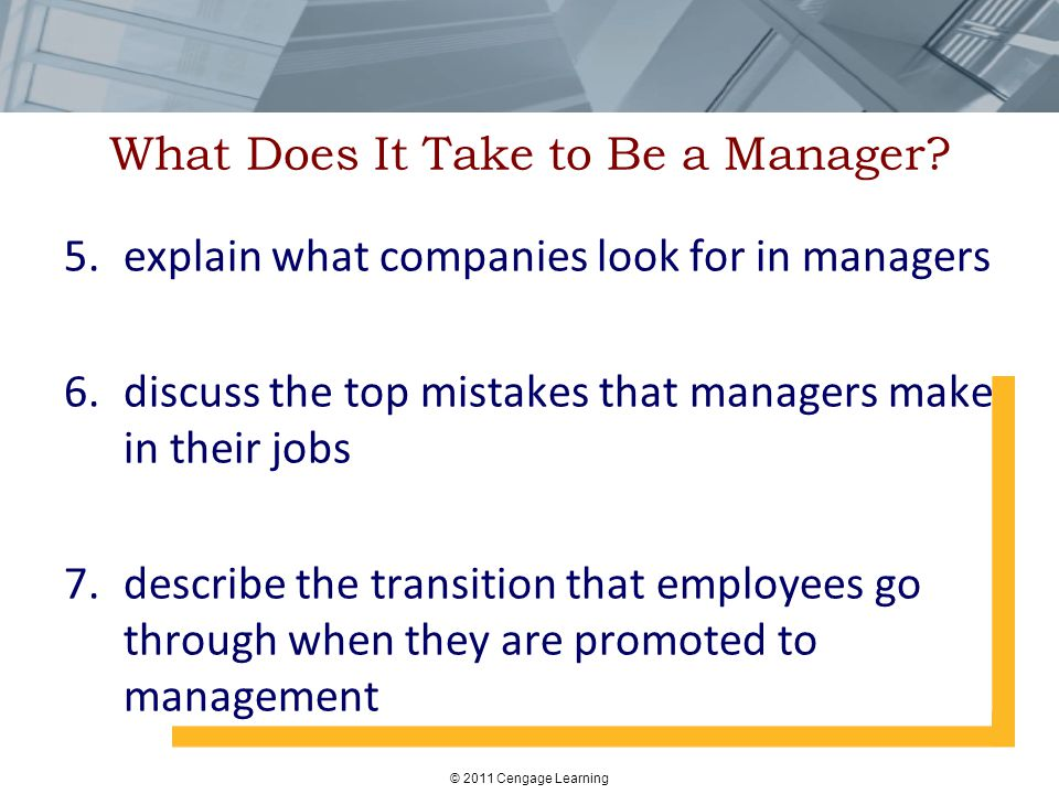 What Does It Take to Be a Manager