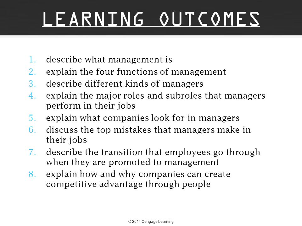 describe what management is explain the four functions of management