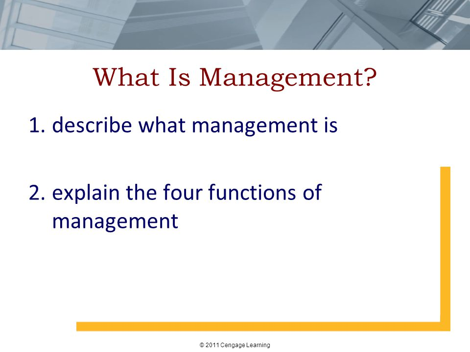 What Is Management describe what management is