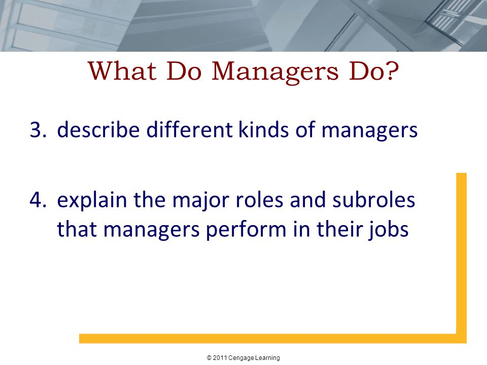 What Do Managers Do describe different kinds of managers
