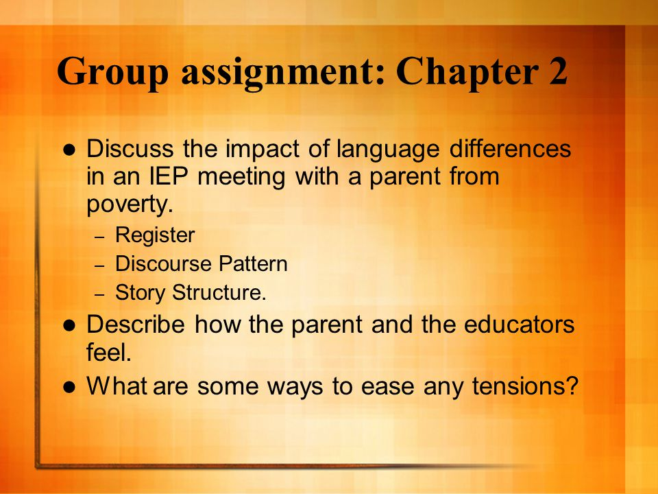 Group assignment: Chapter 2